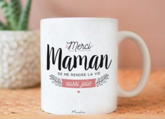 Mug «Merci maman ... vie aussi jolie