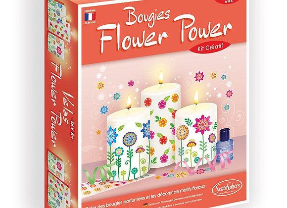 Bougies Flowers power