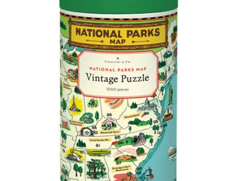 Puzzle Plans des parcs nationaux