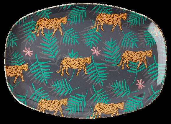 Assiette rectangulaire  mélanine tigre