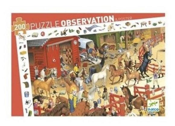 Puzzle centre équestre - Deco