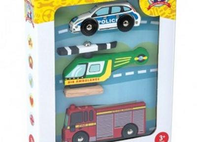 Lot de 3 véhicules bois Le Toy Van