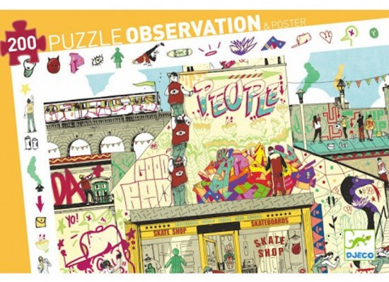 Puzzle observation 'Street Art' 200 pcs Deco