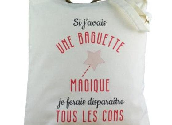 Tote bag baguette magique