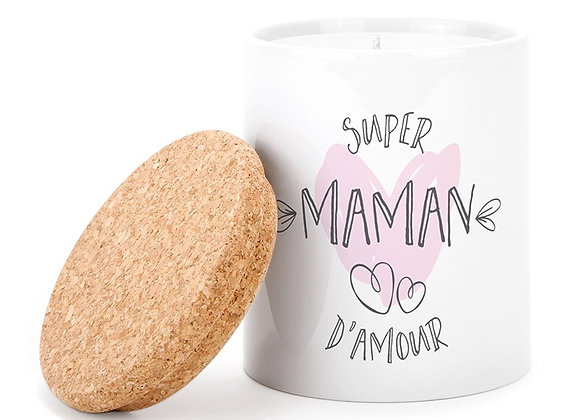 Bougie super maman d'amour
