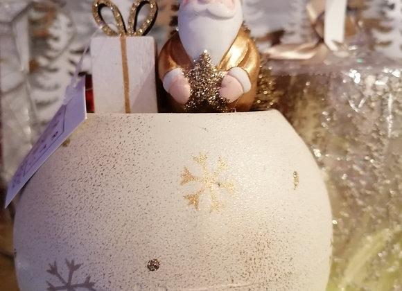 Boule  led avec père Noël