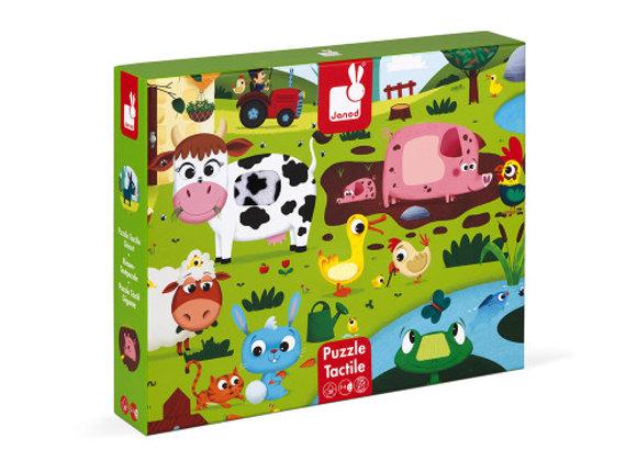 Puzzle tactile géant animaux de la ferme
