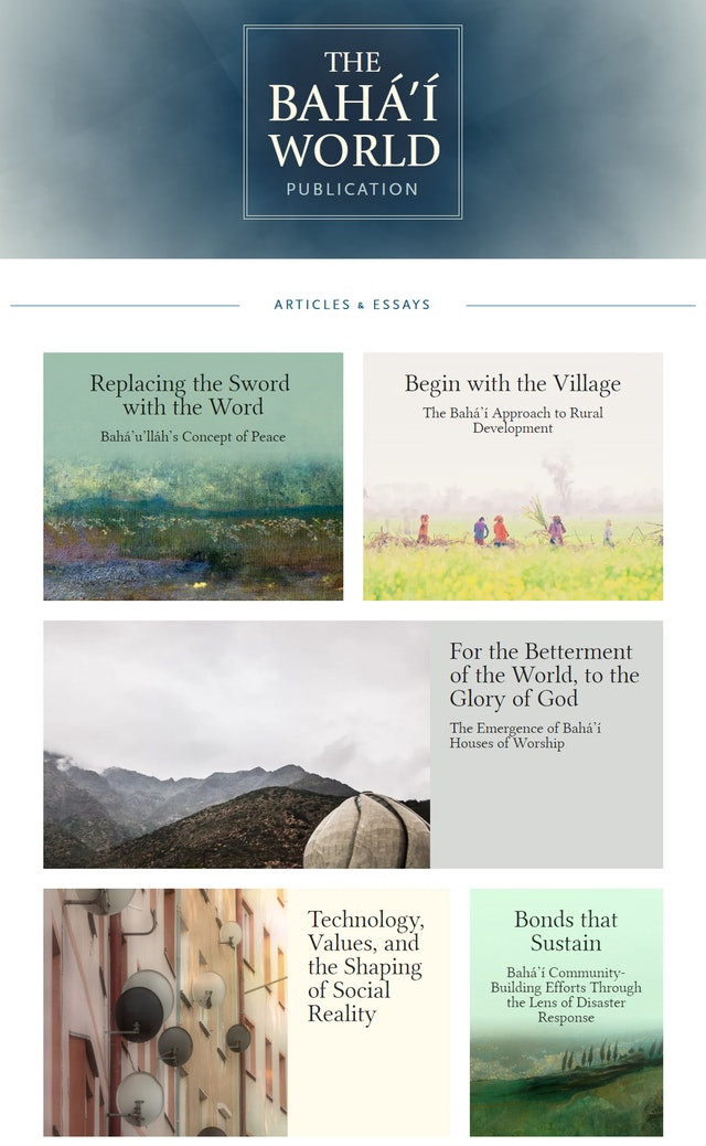 Baha'i World Publication website