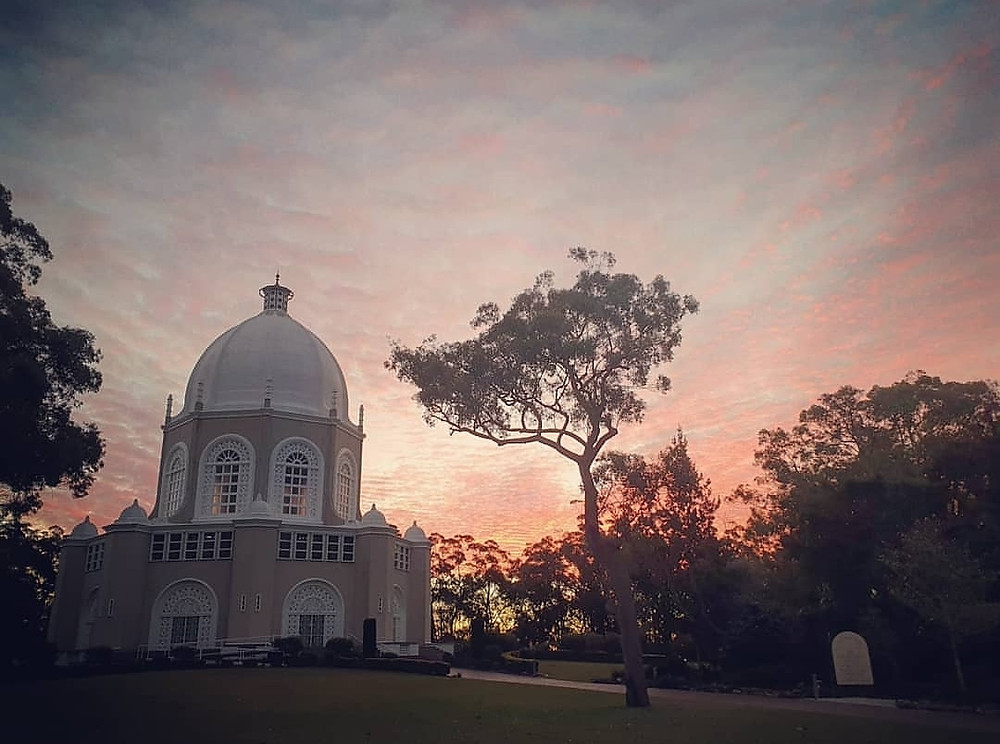 Baha'i House of Worship Sunset in Sydney
