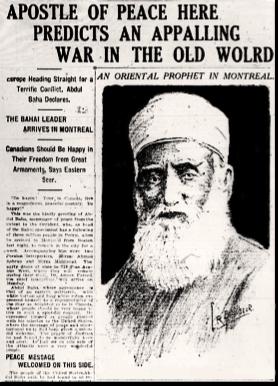 'Abdu'l-Bahá Visits Canada