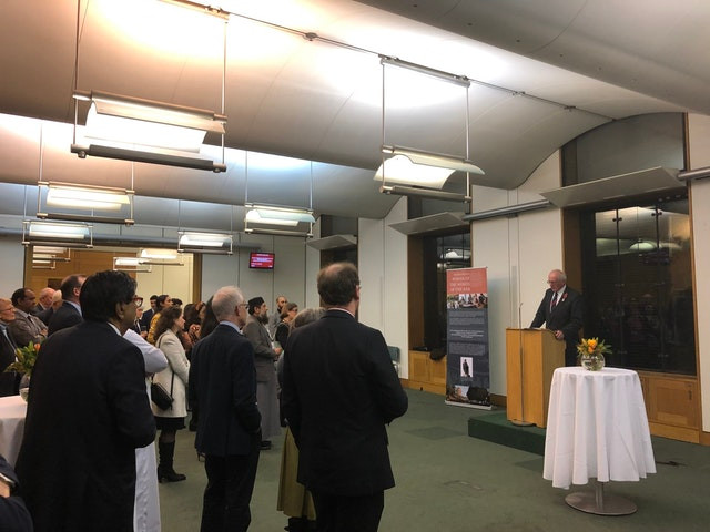 United Kingdom Member of Parliament Jim Shannon spoke at a celebration of the bicentenary of the birth of the Bab, held at Parliament, on 28 October.