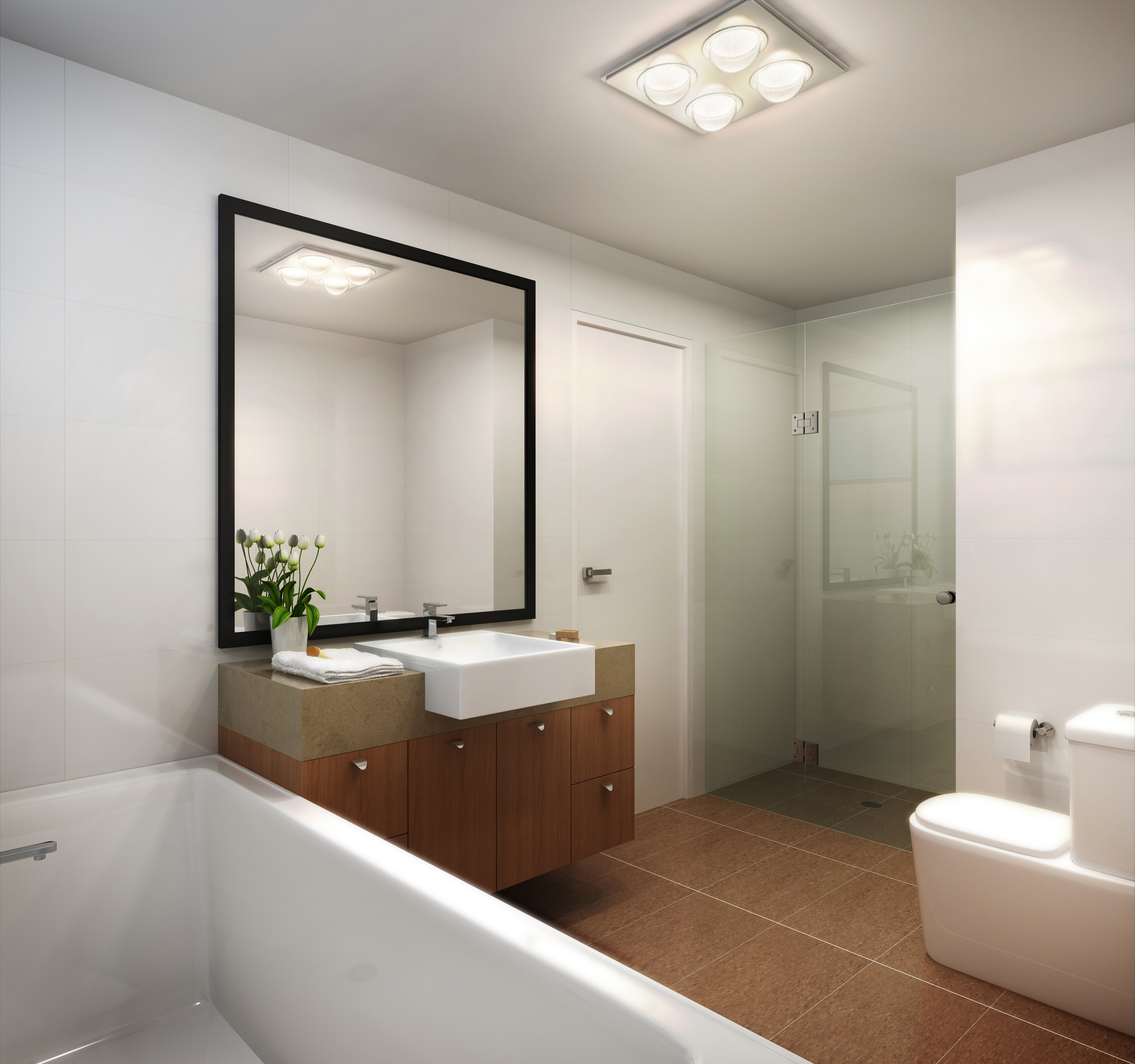 Modern Clean Luxury White Bathroom
