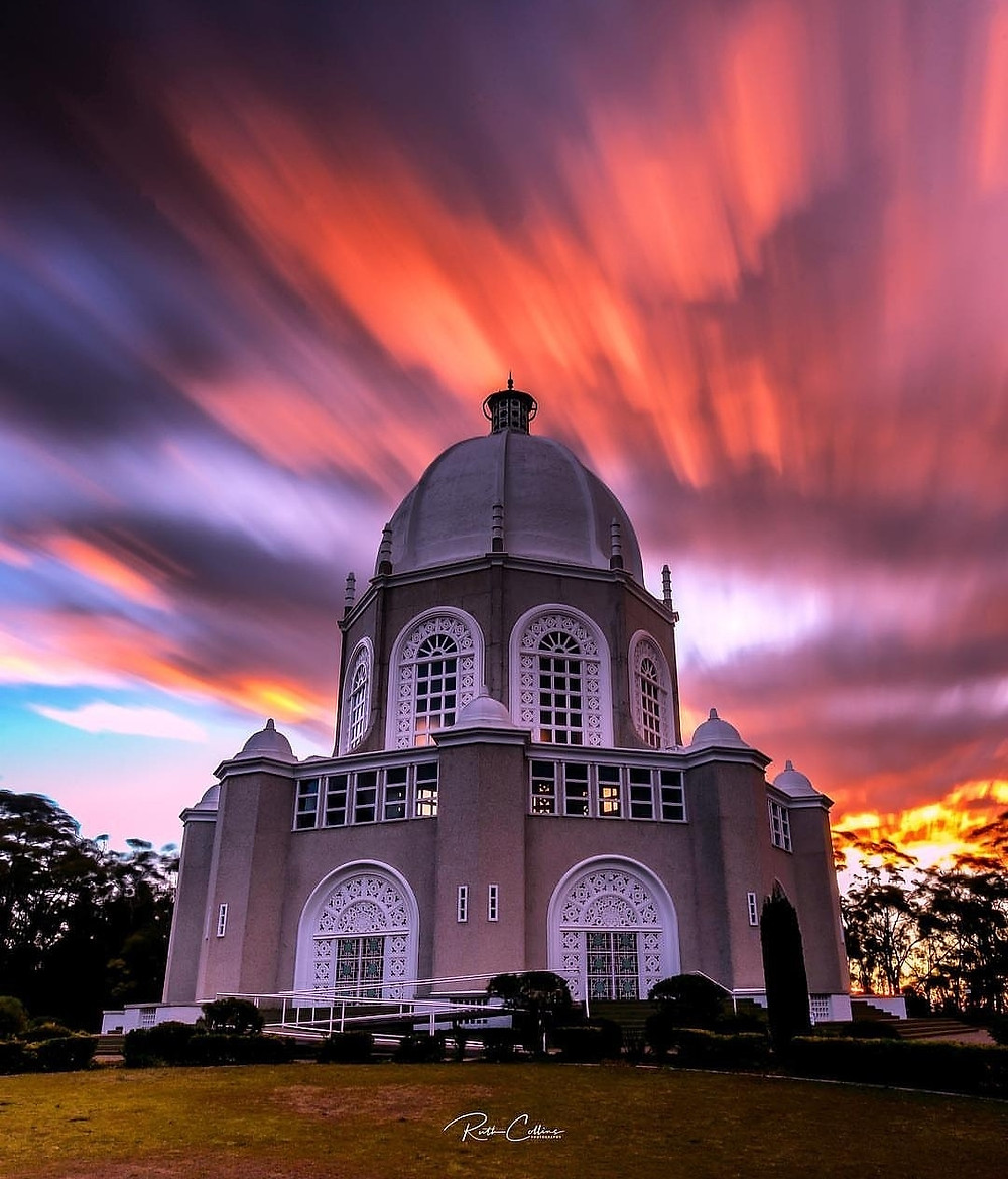 Sunset at Sydney Baha'i House of WOrship