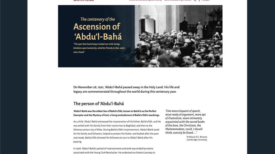 Bahá'ís prepare to commemorate the centenary of 'Abdu'l-Bahá's passing