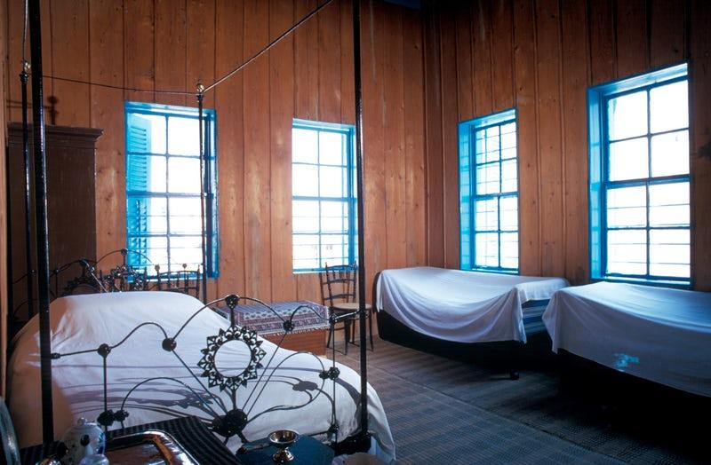 Bahá'u'lláh's room in the house of 'Údi Khammár, where He revealed the Kitáb-i-Aqdas, late 1900s