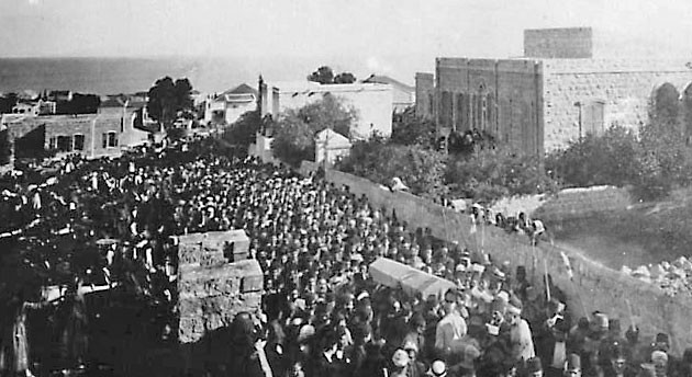 Funeral procession of the passing of `Abdu'l-Baha