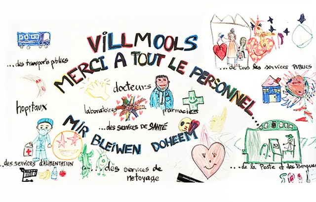 Children in Luxembourg send love and encouragement to healthcare professionals