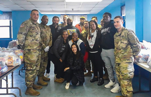 Youth group distributes food, gains city and National Guard support