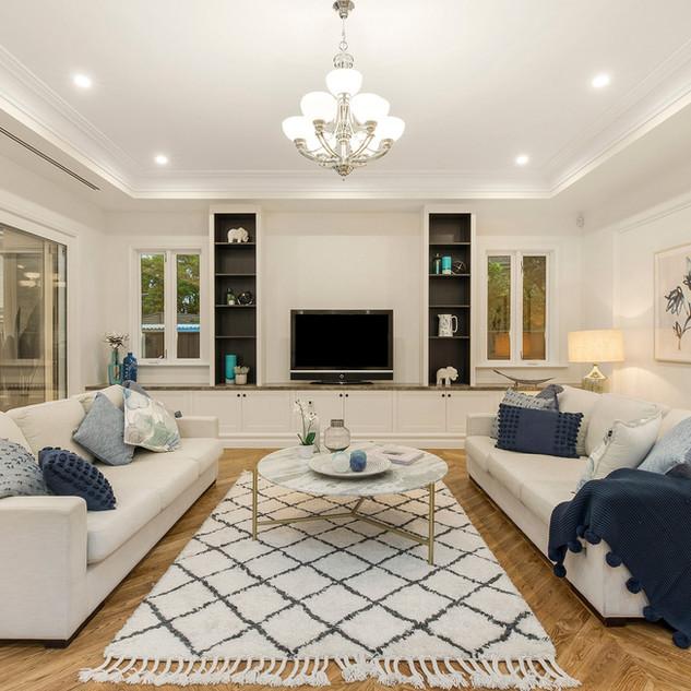 Luxury custom living room