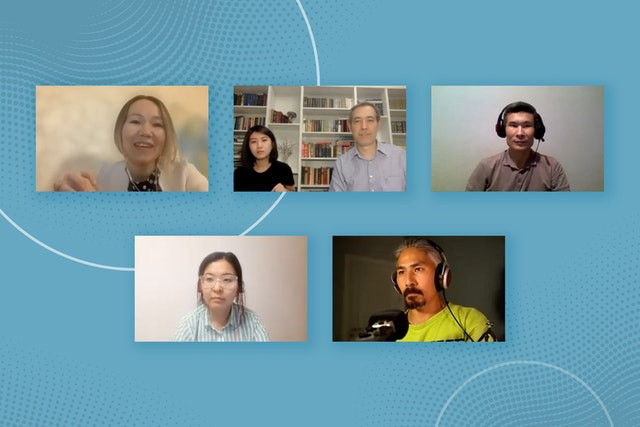 6 people are shown on a zoom call talking