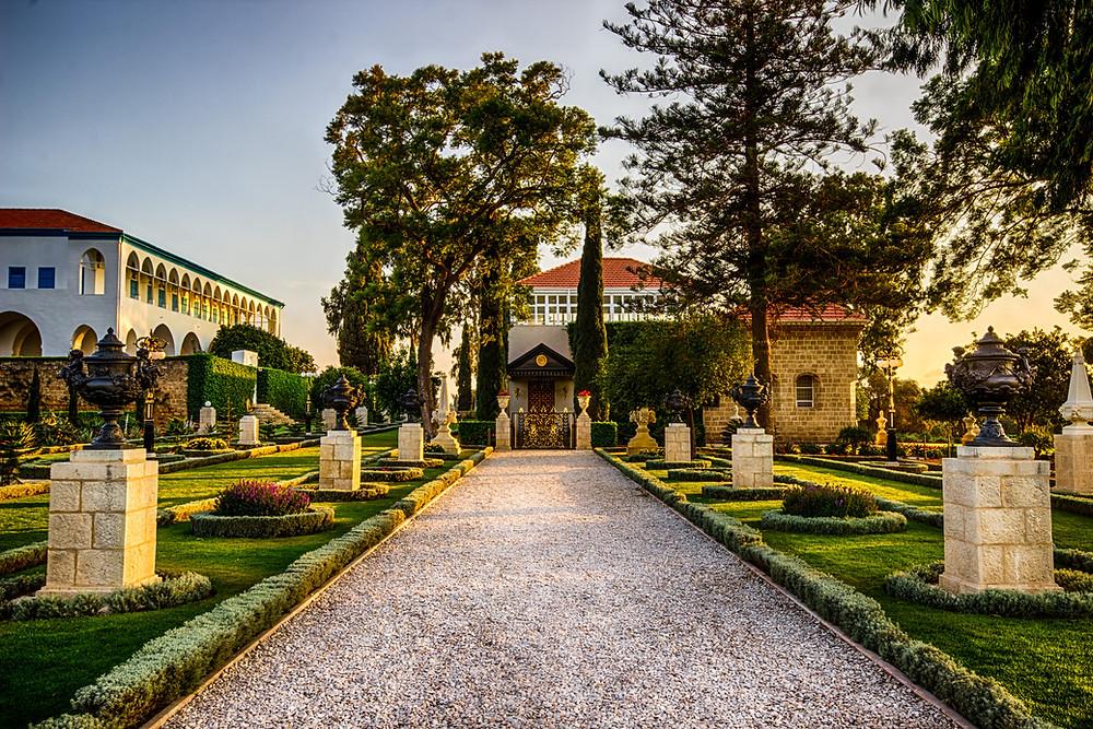The Shrine of Bahá'u'lláh, Bahji, near Acre, Israel.