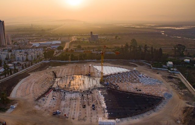 Shrine of 'Abdu'l-Bahá: Foundations completed