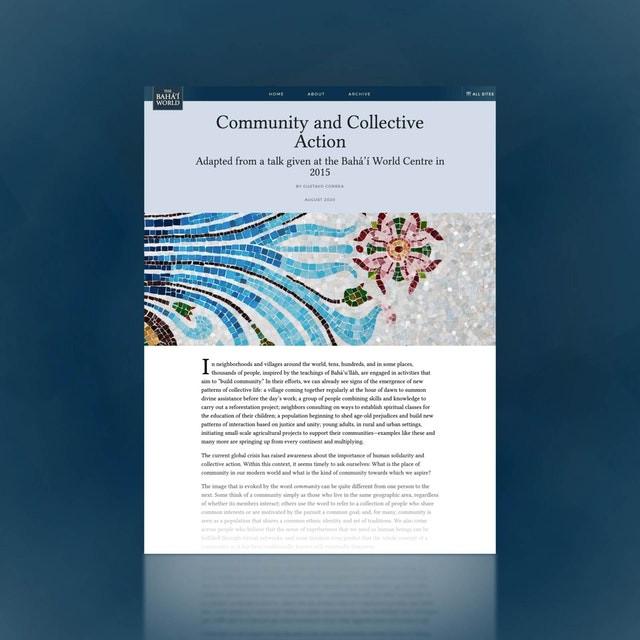 Baha'i Faith Collective Action