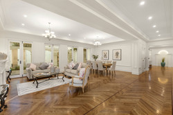 Expansive French provincial formal living
