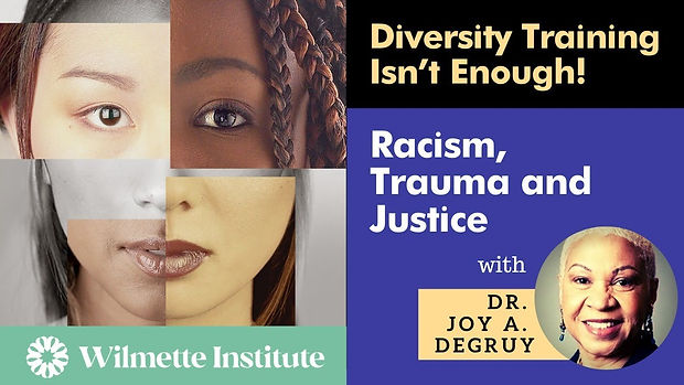 Joy DeGruy Diversity Training Isnt Enoug