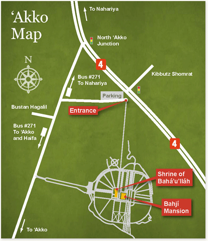 Directions to the Mansion of Bahji