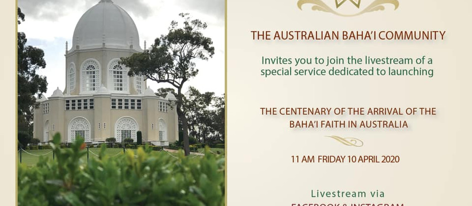 Centenary Baha'i Celebrations Start in Australia
