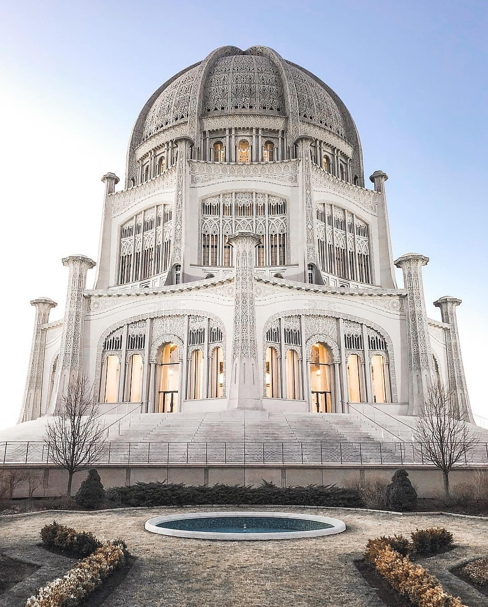 Chicago House of Worship in Winter