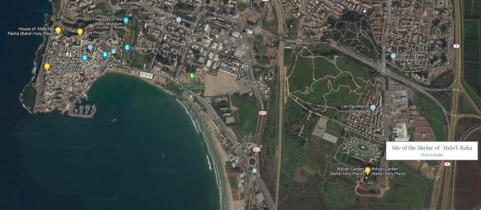 Location of the Shrine of `Abdu'l-Baha