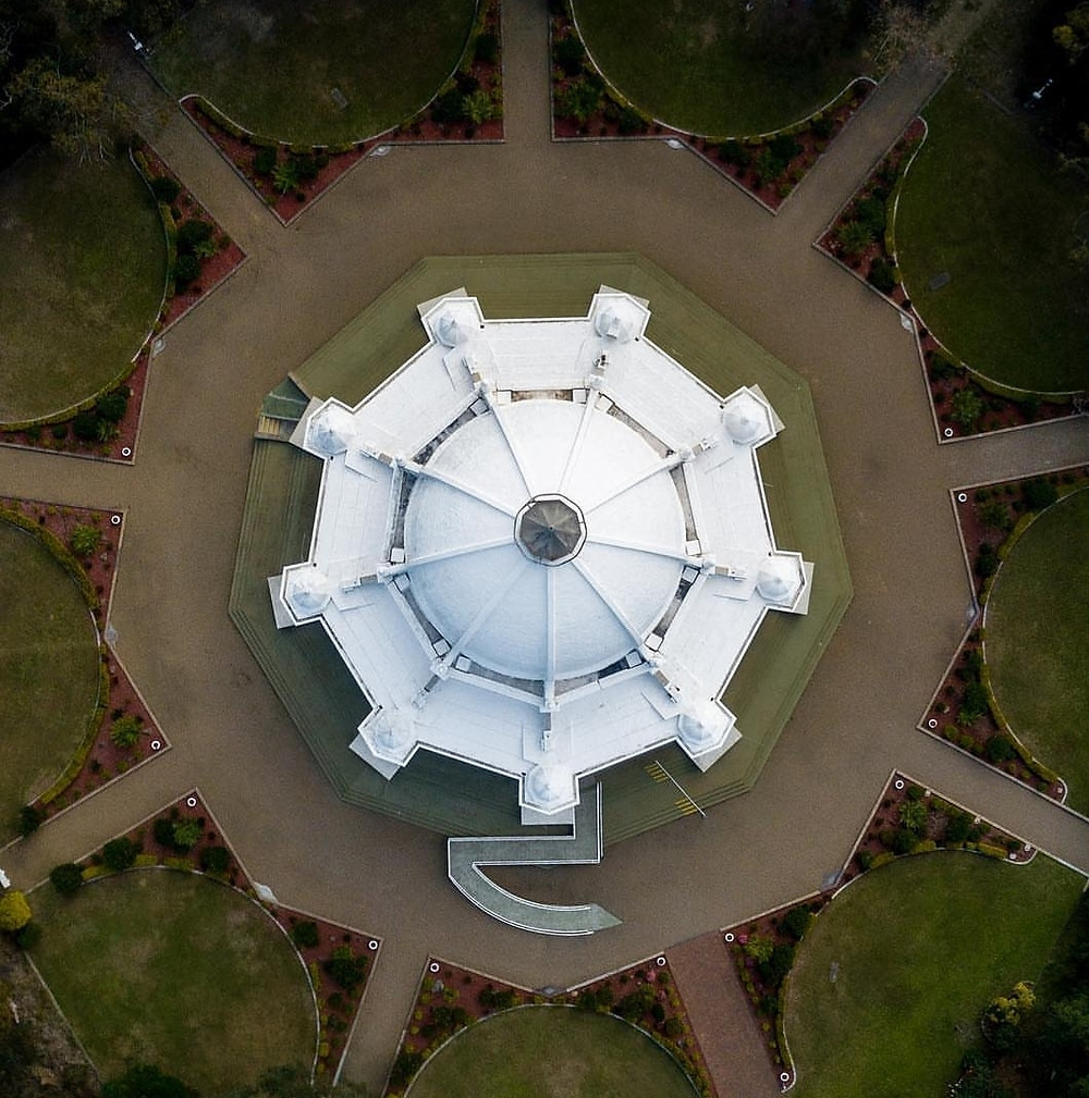 Drone Baha'i House of Worship Sydney