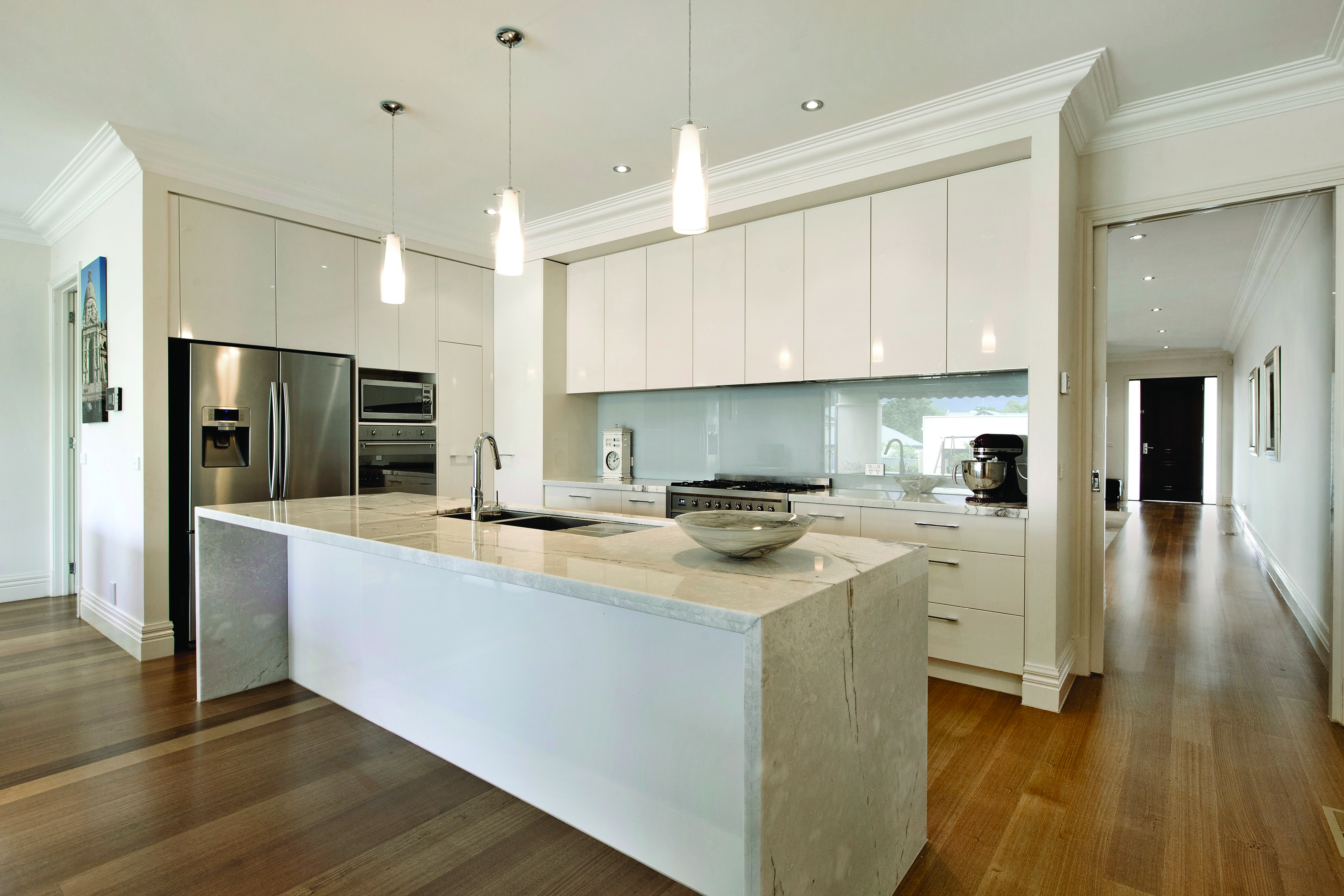Luxury Marble Custom Kitchen Carmel