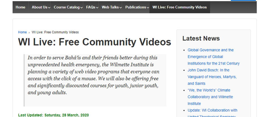 WI Live: Free Community Videos