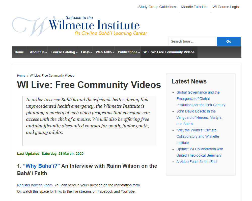 Wilmette Institute