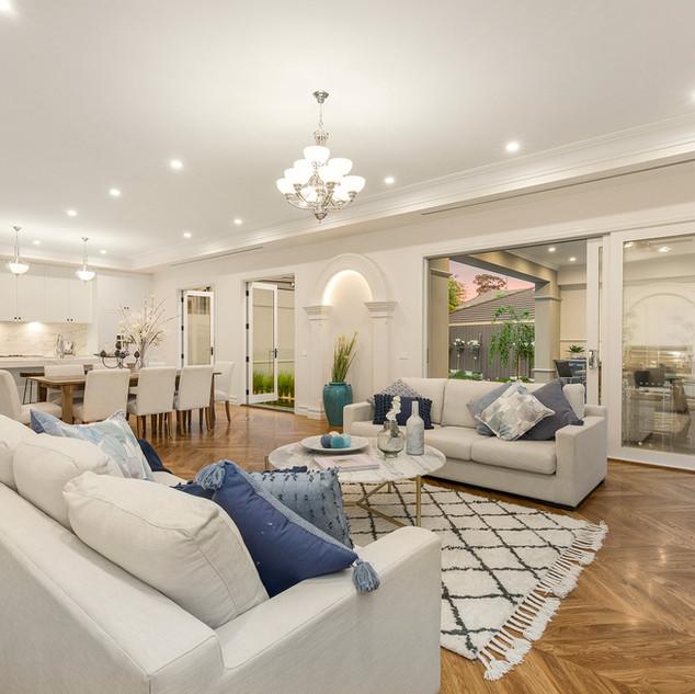 Luxury custom family room