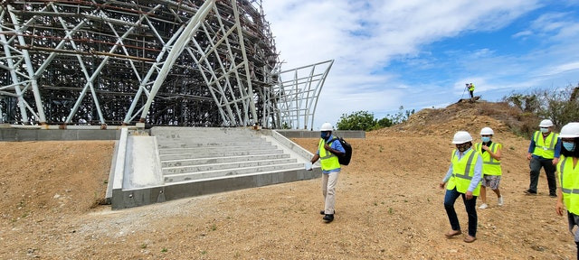 Papua New Guinea: House of Worship superstructure completed
