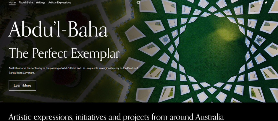 Launch of website for the centenary of the Ascension of 'Abdu'l-Baha
