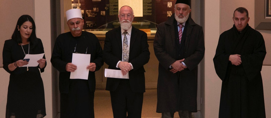Interfaith gathering of senior representatives followed by visit to Shrine of the Bab