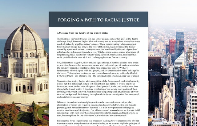 Statement on racial prejudice spurs vital conversation in the US
