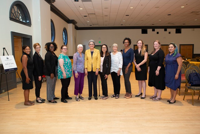 The speakers and panelists at the Baha'i Chair conference, Women in the World