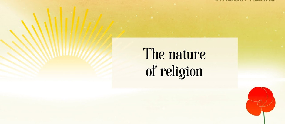 Irish Bahá'í community Bicentenary of the Birth of the Báb - Video 17: The Nature of Religion