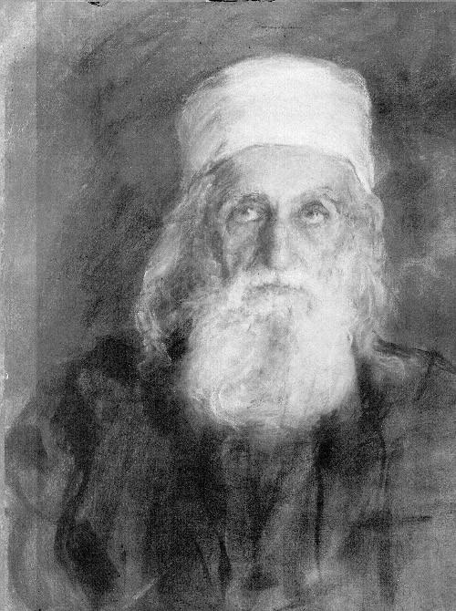 Portrait of `Abdu'l-Baha by Juliet Thompson