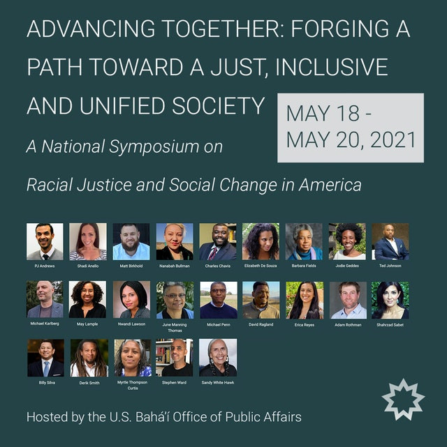 an image of an invite to the national symposium is shown, with panelists underneath