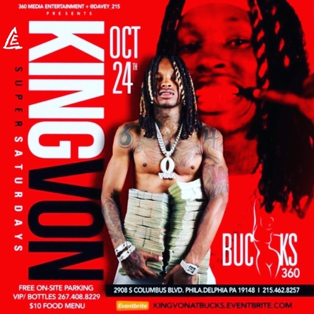 King Von - Oct 24 - Philly, PA