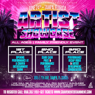 Artist Showcase - Tampa, Florida | Thursday June 24