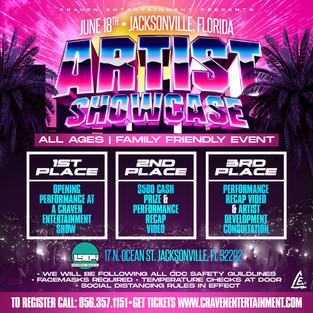 Artist Showcase  - Jacksonville, Florida | Friday June 18