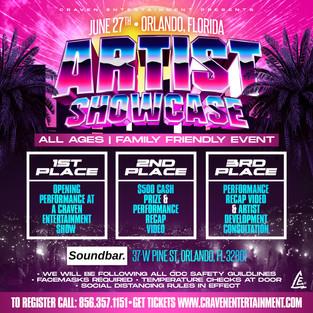 Artist Showcase - Orlando, Florida | Sunday June 27